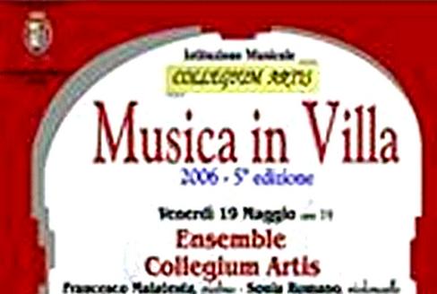 """8 cicli di """"Musica in Villa"""""""